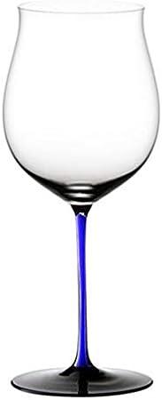 ZKHD Lazo Azul Austriaco Importado Crystal Master Hecho a Mano Borgoña Vidrio de Vino Burdeos Copa de Vino,1050ml / 37oz Burgundy Cup