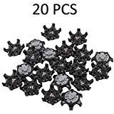 AmerStar 20Pcs Black Easy Replacement THiNTech Spikes 2010 Golf Shoes
