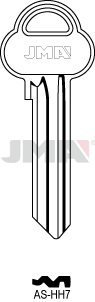 5 X ASS52R SILCA AS-HH7 JMA ASSA Key Blanks