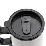 Zehui–climatizada Taza de acero inoxidable taza de café de coche con cargador 12V calefacción taza para coche