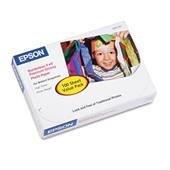 Epson Premium Photo Paper, 68 lbs, High-Gloss, 4 x 6, 100 Sheets/Pack