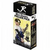 J Reynolds JRPKLPBK Mini Electric Guitar Pack by J. Reynolds