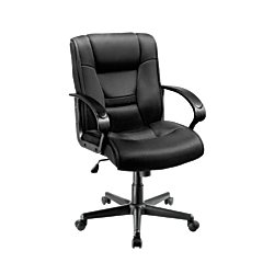 Brenton Studio(R) Ruzzi Mid-Back Mesh Chair, Black by Brenton Studio