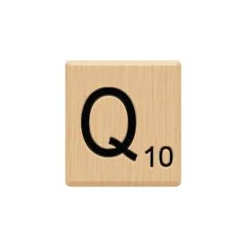 Amazon.com: (10) Beautiful Scrabble Letter Q Tiles, Scrabble for