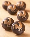 6 ROOSTER country FARM knobs DRAWER PULLS cabinet NEW - Cabinet ...