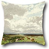 Oil Painting W.C. Piguenit - Near Liverpool, New South Wales Pillow Shams 20 X 20 Inches / 50 By 50 Cm For Bf,teens Boys,play Room,drawing Room,son,shop With Two Sides