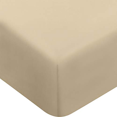 Utopia Bedding Fitted Sheet (Queen - Beige) - Deep Pocket Brushed Velvety Microfiber, Breathable, Extra Soft and Comfortable - Wrinkle, Fade, Stain and Abrasion - Sheet Queen Separates