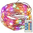 100 LED Dimmable Fairy String Lights 33 ft, SATUBROWN Copper Wire Starry Lighting Jar Table Decorations with Remote Control + Adapter for Wedding Bedroom Party Christmas Tree (Colored, Plug in)