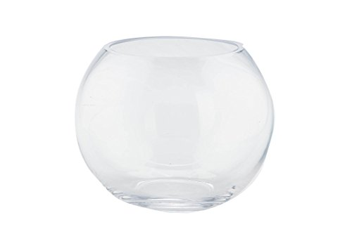 """Diamond Star Glass Clear Bubble Bowl, 8"""" by 6"""" from Diamond Star Glass"""