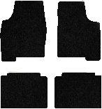 rolls royce parts - Rolls Royce Silver Spur Carpeted Floor Mats 4 Pc Set - Black (1985 85 1986 86 1987 87 1988 88 1989 89 1990 90 1991 91 ) AMS1F2V960N7HLX