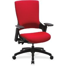 Lorell(R) Serenity Series Executive Multifunction High-Back Chair, Fabric, Red