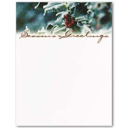 Masterpiece Holly and Berries Letterhead - 8.5 x 11 - 100 Sheets (Masterpiece Holly)