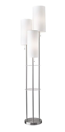 Adesso 4305-22 Trio 3-Light Floor Lamp, 68'' Height, Smart Outlet Compatible by Adesso
