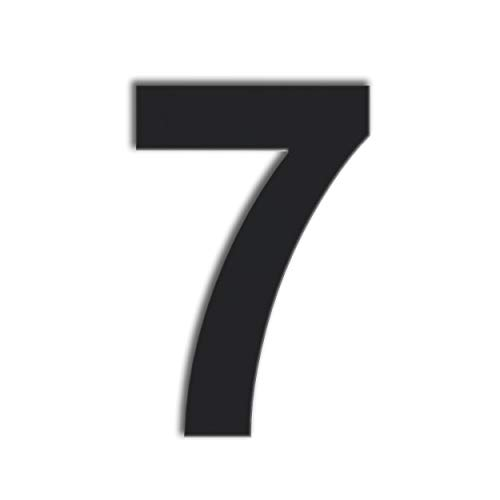 - QT Modern House Number - 6 Inch Black - Stainless Steel (Number 7 Seven), Floating Appearance, Easy to Install and Made of Solid 304 Stainless Steel