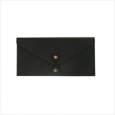 Royce Leather Legal Size Document Envelope-Black