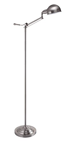 Milton Greens Stars A31186F-BN Shelly Adjustable Swing Arm Floor Lamp, 63-Inch, Brushed Nickel
