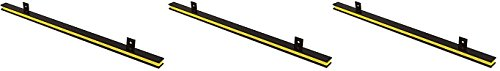 Master Magnetics AM1PLC Magnetic Tool Holder, 24'' Wide, 20 lb per inch, Black Powder Coat with Yellow Stripe (3-(Pack))