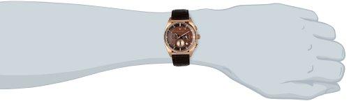 Emporio Armani AR0371 - Reloj cronógrafo de cuarzo para hombre, correa de cuero color marrón: Amazon.es: Relojes