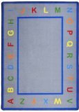 Joy Carpets Kid Essentials Infants & Toddlers Learn Your Letters Rug, Multicolored, 10'9