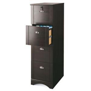 Realspace Dawson 4-Drawer Vertical File Cabinet, Cinnamon Cherry