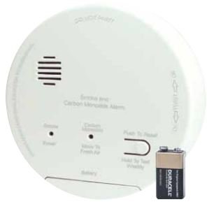 Gentex GN-503FF Smoke & Carbon Monoxide Alarm, 120V Hardwired Interconnectable Photoelectric w/9V Battery Backup, T3 & T4 Horns, A/C Contacts (918-0021-002) by Gentex (Image #1)