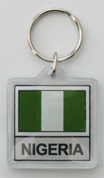 Nigeria - Country Lucite Key Ring (Lucite Rings Band)
