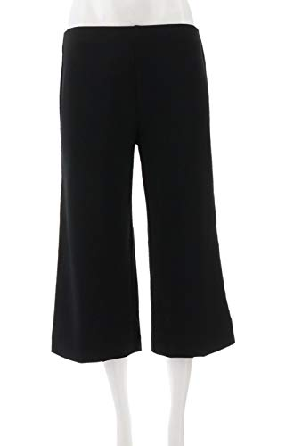 Clinton Kelly Kelly Petite Pull-On Ponte Culotte Pants A304707, Black, PM from Clinton Kelly
