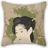 Adam Roach Costume (Alphadecor Pillowcase Of Oil Painting Hashiguchi Goyo - Woman At A Hot Spring Hotel,for Home Theater,home Office,teens Boys,car,family 18 X 18 Inches / 45 By 45 Cm(both Sides))