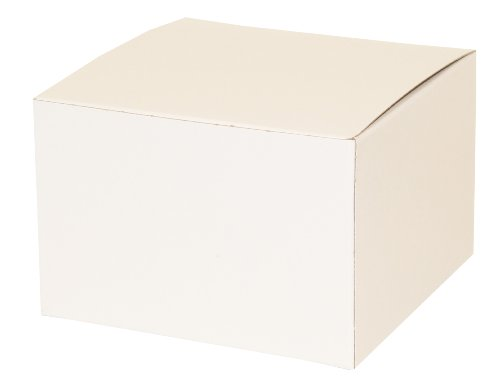 (Premier Packaging AMZ-101025 10 Count Decorative Gift Box, 6 by 6 by 4-Inch, White)