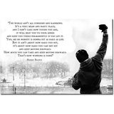 Decorative Posters Rocky Balboa Motivational Quotes Art Custom Poster 20×30 Inch