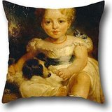 Throw Pillow Covers Of Oil Painting Wood, John - Susan Jay And Her Dog 18 X 18 Inches / 45 By 45 Cm,best Fit For Teens,home,study Room,relatives,kids,birthday Both Sides (Susan Throw)