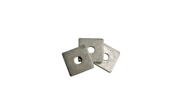 5//8 Square Plate Washer Plain Finish Thickness: 0.25 inch Quantity: 100 pcs - OD: 2-1//2 inch