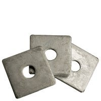 1'' Square Plate Washer Hot Dip Galvanized (HDG) (Quantity: 30 pcs) - OD: 3-1/2'' inch, Thickness: 0.39 inch