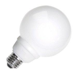 TCP 8G3008WH Cold Cathode Decorative G30 - 40 Watt eq. (only 8w used) Soft White (2700K) Medium Base White Globe Light Bulb (300 Lumens)