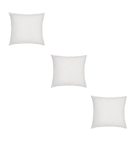 Web Linens Inc - Three Square Polyester Pillow Inserts with