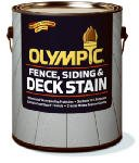 Olympic Solid Color Deck/ Fence/Siding Latex Stain Acrylic Navajo 1 Gl ()