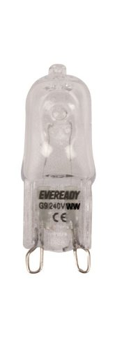 10 x G9 Halogen Light Bulbs 25w EVEREADY Clear