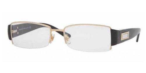 301ed5b8509 Versace Ve1140 Ve 1140 1002 Gold Semi-Rimless Steel Frame Eyeglasses 51Mm   Amazon.co.uk  Clothing