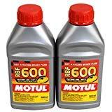 Motul (2 Pack) 100949 8068HL RBF 600 Factory Line Dot-4 100 Percent Synthetic Racing Brake Fluid - 500 ml ()