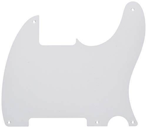 (Fender Vintage-Style Pickguard, Esquire, 5-Hole Mount - White 1-Ply )