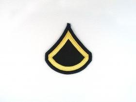 Amazon com: Army Dress Blue ASU PFC Private First Class Sew On Rank