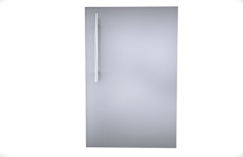 SUNSTONE DE-DVR15 Designer Series Raised Style Single Door with Shelf, 15'', Stainless Steel by SUNSTONE