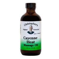Dr. Christopher CAYENNE HEAT MASSAGE OIL, 4 FZ