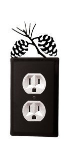 EO-89 Pinecone Single Outlet Electric Cover by Village Wrought Iron