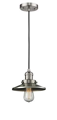 Innovations Lighting 201C-SN-M2 1 Light Mini Pendant Brushed Satin - Pendant Nickel Railroad