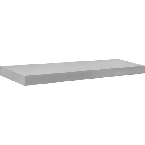 Dolle Shelving 35.5'' x 10'' Big Boy Silver Floating Shelf with Two Invisible Brackets