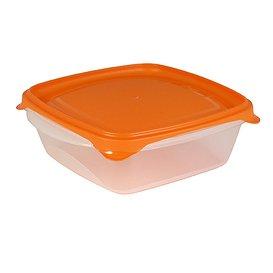 SP Berner - Taper contenedor de comida 0,8L cuadrado, Libre de BPA - 5 Unidades