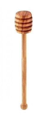 6'' Long Olive Wood Honey Dipper - Wooden Stick Spoon Dip Drizzler Server by Honey Dippers (Image #1)