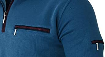 Humy Herren Langarm Polo Sweat Shirt mit Kragen M bis 3XL Polohemd Blousonshirt aus Baumwoll-Mix