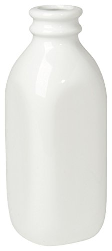 Now Designs Ceramic Milk Bottle, Large, White